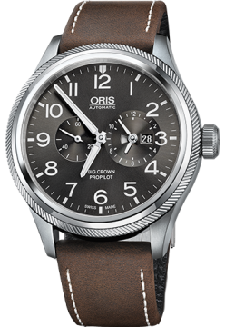Oris 690 7735 40 63 LS Dark Brown